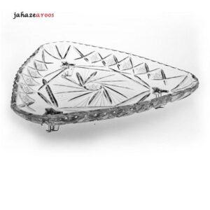 شیرینیخوری 3پایه کریستال جیسیسی مدل هریس