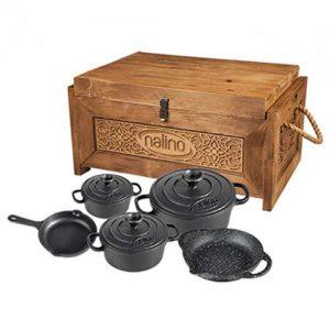 سرویس 8 پارچه Tekla نالینو به همراه جعبه چوبی