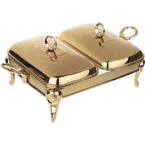 سوفله دوقلو نگین دار طلایی